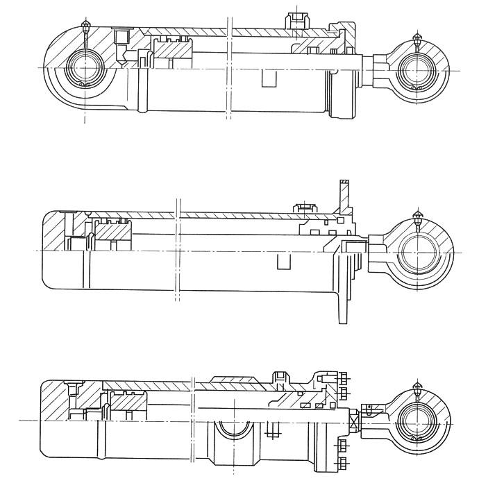 使用范围 hsg系列双作用单活塞杆式液压缸,式液压系统中作往复运动的图片